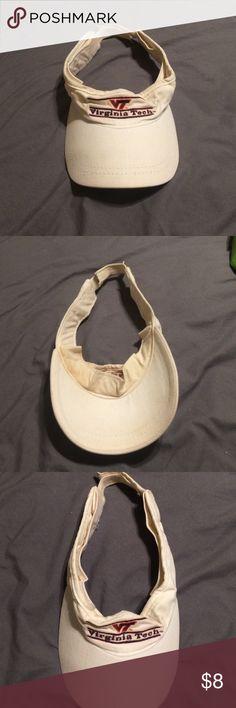 Virginia tech visor Used Accessories Hats