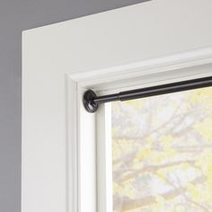 Block window light and enhance privacy in your room by adding this Eclipse Black Telescoping Room Darkening Tension Curtain Rod. Tension Rod Curtains, Window Curtain Rods, Shower Curtain Rods, Hanging Curtains, Window Curtains, Tension Rods, Room Window, Curtains Inside Window Frame, Dyi Curtains