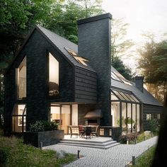 """545 Likes, 2 Comments - Hommes Deluxe (Design) (@hommesdeluxe.design) on Instagram: """"from @architectanddesign - House in the Woods by Antony Polyvianyi.  #Kiev #Ukraine…"""""""