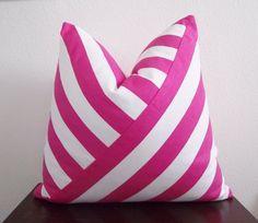 Adam and Viktoria Pillows | Pink & White Stripe Pillow
