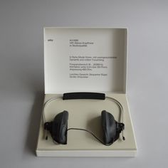 Braun's first set of headphones - the KH 1000 - was designed by Reinhold Weiss in 1966