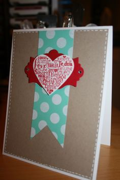 Stampin Up's Language Of Love stamp set and Fresh Prints DSP paper stack. 2014 Occasions Mini Catalog