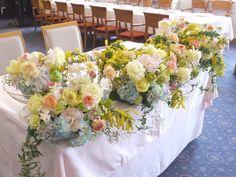 新郎新婦様からのメール 春の花と夢ほたる : 一会 ウエディングの花