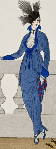 Fashion plate from 'Journal des Dames et des Modes', French, 1914.
