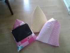 ipad òr laptop cushions. Plain or patchwork