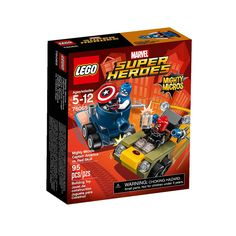 Faça parte de uma batalha épica com o espetacular Lego Super Heroes Marvel - Poderosos Micros Capitão América Contra Caveira Vermelha.   Eles estão em uma perseguição alucinante com seus microcarros equipados para batalha.   Inclui uma minifigura do Capitão América e outra do Caveira Vermelha, tornando as brincadeiras ainda melhores.   Com este incrível Lego as crianças vão poder soltar a imaginação e usar toda a criatividade para criarem as mais espetaculares historinhas, tudo com muita…