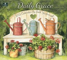 Legacy Publishing Group, Inc. Legacy of Faith 2015 Wall Calendar with Scripture, Daily Grace by Beth Yarbrough Lavender Garden, Lavender Flowers, Wall Calender, Foto Transfer, Decoupage Printables, Vintage Metal Signs, Pintura Country, Decoupage Vintage, Country Paintings