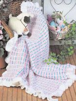 Textured Plaid Baby Afghan