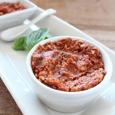 Sun Dried Tomato Pesto Recipe #glutenfree #healthy #recipe