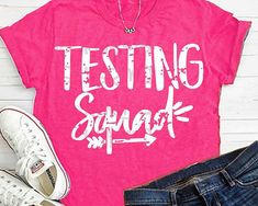Teacher svg, Testing squad svg, teacher shirt, test svg, teacher gift, grunge svg, SVG, school svg, commercial use, dxf, eps, teacher Comes in grunge and no grunge Welcome to shorts and Lemons! Make these cute shirts for your shop, family or friends with this easy to print or cut