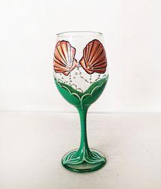 Mermaid wine glass - 20 oz