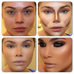 Fashion Lookboock: Contouring and Highlighting makeup