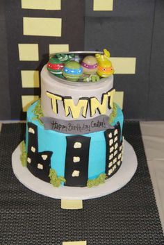 Teenage Mutant Ninja Turtle Party Ideas - Cake   CatchMyParty.com