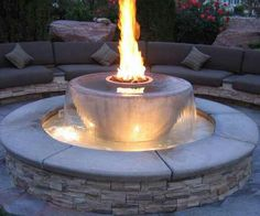 Waterfall fire pit that I dream about!