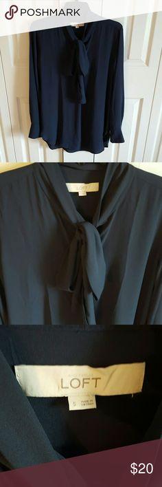Loft Tie Neck Blouse Never worn but tags removed LOFT Tops Blouses