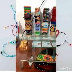 """10 Me gusta, 0 comentarios - Artebello (@artebeello) en Instagram: """"Nuevo mercancia ( pulseras ) hecho a mano de hilo encerado, en chaquira y miyuki. Luce y se…"""" Toothbrush Holder, Instagram, Handmade Bracelets, Hands, Hand Made"""