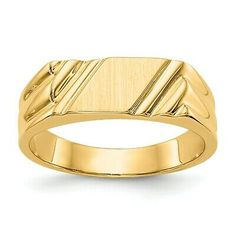 Yellow Gold Signet Band Ring Fine Jewelry Gifts For Women For Her Gold Ring Designs, Gold Earrings Designs, Necklace Designs, Gold Gold, White Gold, Gents Gold Ring, Gold Finger Rings, Pinky Rings, Wedding Rings Vintage