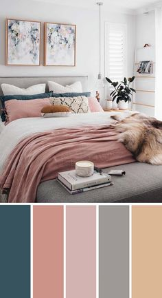20 Beautiful Bedroom Color Schemes It must speak to you in a . 20 Beautiful Bedroom Color Schemes It must speak to you in a special way, so to say. Here are 20 beautiful color schemes for your bedroom. Best Bedroom Colors, Bedroom Colour Palette, Bedroom Color Schemes, Colourful Bedroom, Home Color Schemes, Paint Colours For Bedrooms, Grey Living Room Ideas Colour Palettes, Color Schemes With Gray, Bedroom Colour Schemes Inspiration
