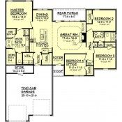 AmazingPlans.com House Plan #BB-1750-2 - Country, European - French, Ranch, Southern, Traditional, Vacation, Photo