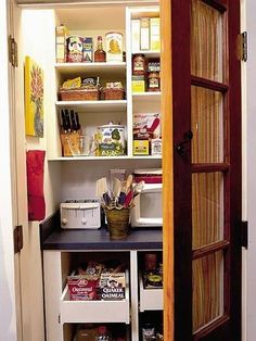 Like the idea of a small walk in pantry with a small appliance counter-top!