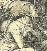"Detail from ""The Beggars"", Lucas van Leyden 1510"