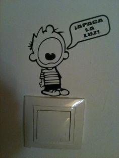 calvin wall sticker