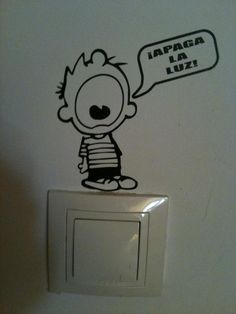 calvin wall sticker