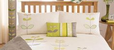 Check out this lush Green Naya Bedlinen Collection from Dunelm. bit of a homage to Orla Keily and very affordable! Linen Bedding, Bed Linen, New Beds, Lush Green, Bed Pillows, Pillow Cases, Toddler Bed, Home Improvement, Bedroom Decor