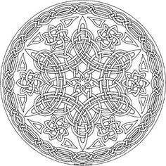 15 Amazingly Relaxing Free Printable Mandala Coloring Pages for Adults Bring These 15 Magnificent Free Mandala Templates To Life With Vibrant Colors! Adult Coloring Book Pages, Mandala Coloring Pages, Colouring Pages, Coloring Books, Celtic Mandala, Celtic Quilt, Celtic Art, Celtic Patterns, Celtic Designs