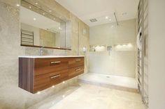 Vanity Units, Vanity Cabinet, Wet Room Bathroom, Bathroom Ideas, Bathroom Designs, Bathroom Recessed Lighting, Bathroom Gallery, Modern Vanity, Modern Shower