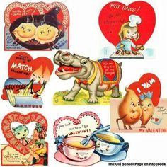 Just like the Valentine's we would give out to each class mate for Valentine's Day in grade school.