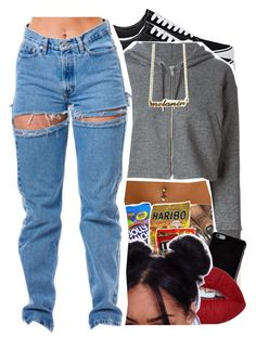 """""""Styling with blue jeans"""" by slayed-fashion ❤ liked on Polyvore featuring Vans, Golden Goose and Givenchy"""