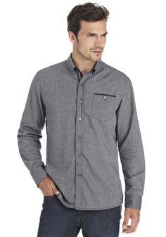 F&F Herringbone Contemporary Fit Shirt