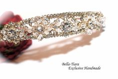 Luxurious collection  swarovski crystal gold by BellaTiaraLLC