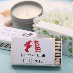 Personalized Matchboxes - Our Wedding Day (Set of 12) on sale at reasonable prices, buy cheap Personalized Matchboxes - Our Wedding Day (Set of 12) at LightInTheBox.com now!