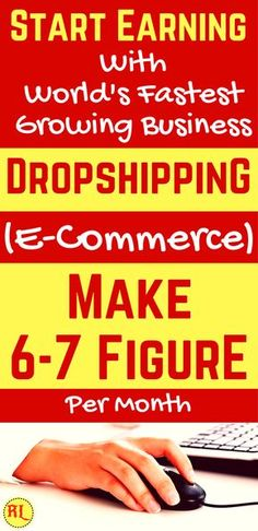 Make money from home in 2017. Dropshipping : How to Start an Ecommerce Business (Even If You Don't Have a Product).Start dropshipping (E-commerce business) to earn passive income from home. Dropshipping business is the one of best side hustle world's fastest growing business. So Start your own e commerce business and start making money from home. Click the pin to see how >>>