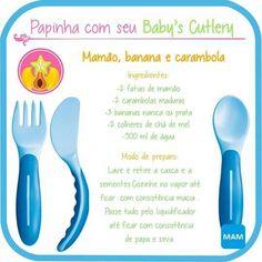 Papinha de Mamão, banana e carambola Baby Food Recipes, Children, Kids, Parenting, Baby Puree Recipes, Recipes For Children, Healthy Food For Kids, Meals For Kids, 6 Month Baby