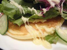 salad and pancake
