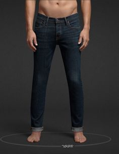 Abercrombie and Fitch Super Skinny Jeans, Men