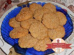 Sesame crunchy cookies - Σουσαμένια τραγανά μπισκότα Cookies, Sweet, Desserts, Twitter, Food, Crack Crackers, Candy, Tailgate Desserts, Deserts