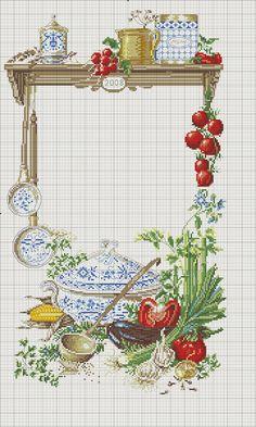 ru / Photo # 20 - a panel curtains - irisha-ira Cross Stitch Fruit, Cross Stitch Kitchen, Cross Stitch Books, Cross Stitch Needles, Cross Stitch Flowers, Cross Stitch Charts, Counted Cross Stitch Patterns, Cross Stitch Designs, Cross Stitch Embroidery