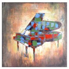 Abstract Piano Canvas Art Print