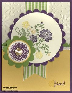 Fresh Vintage Spring Friend Medallions by Michelerey - Cards and Paper Crafts at Splitcoaststampers