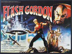 1980s movies | Flash Gordon (1980) - Original British Quad Movie Poster