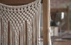 Handmade Macrame Chair Back Wedding Decor Boho Chic Wall Art