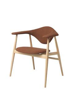 GUBI // Masculo Chair, wood base, by GamFratesi