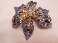 """Брошь """"Распустившийся ирис"""" с жемчугом, лазуритом и бирюзой / Blossomed Iris Brooch Mosaic Pearls Lasuli, 12 500.00р."""