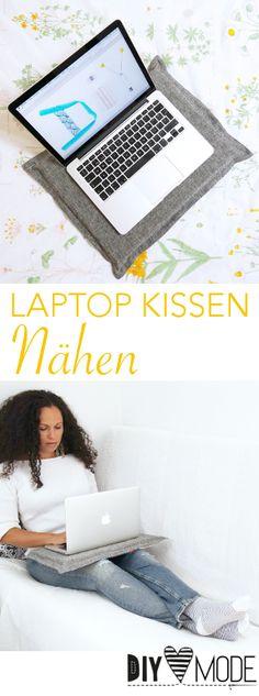 Laptop Kissen nähen / Laptop Stand Tablett Untergrund selbst machen / Video-Anleitung von diymode.de