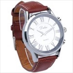 Stylish Brown Men's Analogue Quartz Wrist Watch Wristwatch with Leather Strap Round Face Stylish Watches, Cool Watches, Watches For Men, Famous Brands, Watch Brands, Stylish Men, Quartz Watch, Fashion Watches, Mens Fashion