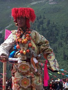 Tibet |  Man in his finery at the Horse Festival Fashion Show |  © BetterWorld2010